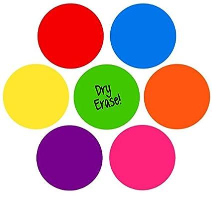 TeachersFriend Dry Erase Circles, Rainbow Set