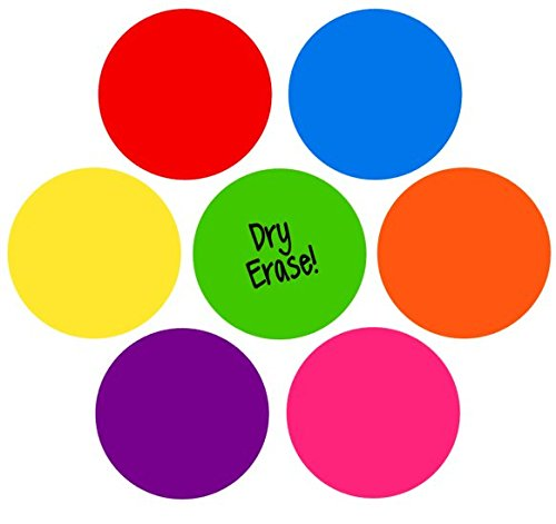 TeachersFriend Dry Erase Circles, Rainbow Set