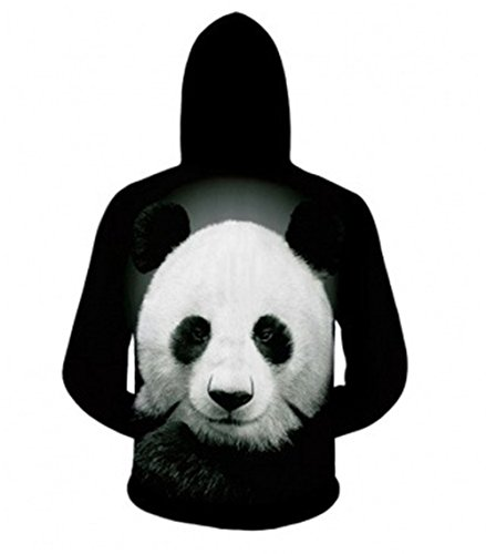 Hoodies Sudadera Negro Capucha Haroty 3d Unisex Sweatshirt Impreso Larga Manga Con Basica Panda R7w1xw