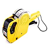 Price Gun Label Printers & Makers Row Labeler Price Tag Label Gun with Sticker Labels & Ink Refill for Office, Retail Shop, Grocery Store JU-5500EOS (Yellow)