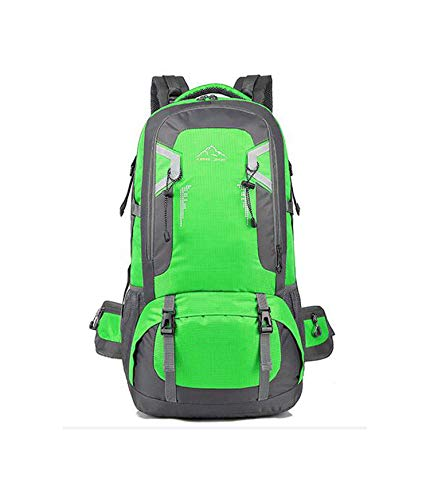 (60L wateroof unisex men backpack travel pack sports bag pack Outdoor Mountaineering Hiking Camping backpack,GREEN,40L)