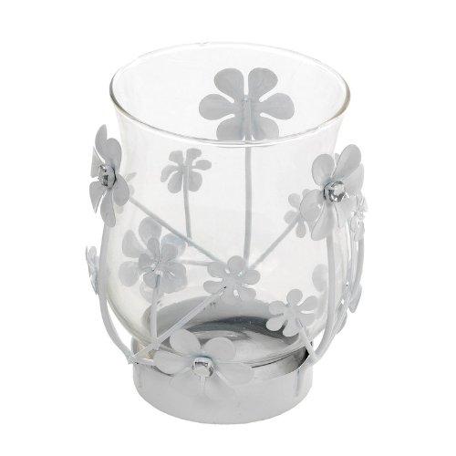 Landon Tyler-Portacandela 12,5 cm, con fiori e brillantini Salco 82-0129