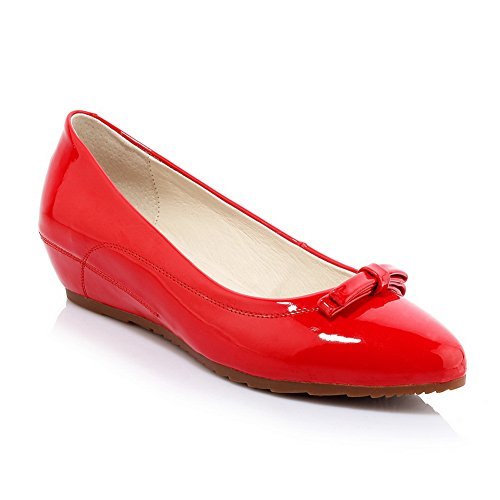 Closure Womens Urethane SDC03757 Pumps Toe Urethane No Red Pointed Shoes AdeeSu ERd4wqSxE