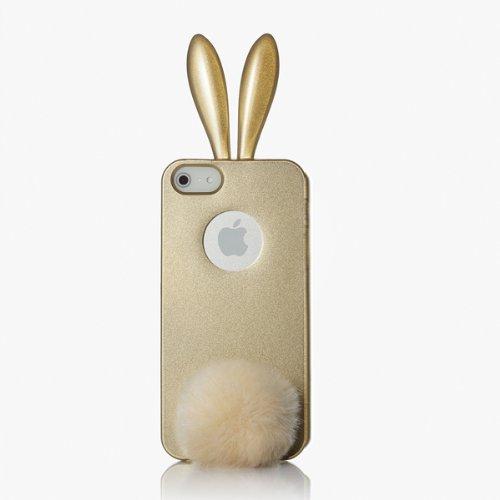 RABITO BUNNY Original Coque iPhone 5S/5 Protection Etui Portable LAPIN OR