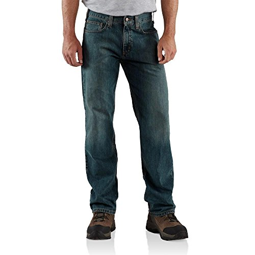 Dungarees Relaxed Bootcut Jeans (Carhartt Men's Relaxed Straight Leg Five Pocket Jean,Weathered Blue,42 x 32)