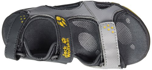 Jack Wolfskin Jungen Puno Bay B Outdoor Sandalen Grau (burly yellow Xt)