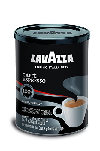 Lavazza Espresso Coffee - Lavazza Caffe Espresso Ground Coffee Blend, Medium Roast, 8-Ounce Cans (Pack of 4)