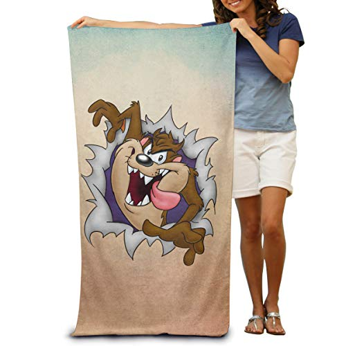 (AIDEAR Looney Tunes Tasmanian Devil Taz Adult Beach Towels Beach Towels Swimwear Beach Towel )