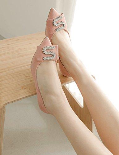 Mode Schuhe dünne Sandalen 36 ZCJB Frühjahrssaison rosa Schuhe wies Größe Fersen Brautjungfer Farbe schwarz Hochzeitsschuhe Frau EBE8rSq6I