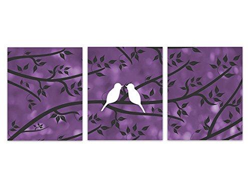 パープルBokeh Love Birds Art Print – home132 16