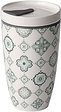 Villeroy & Boch To Go Jade Taza de café para llevar, 2 piezas, 350 ml, Porcelana Premium/Silicona, Verde/Gris