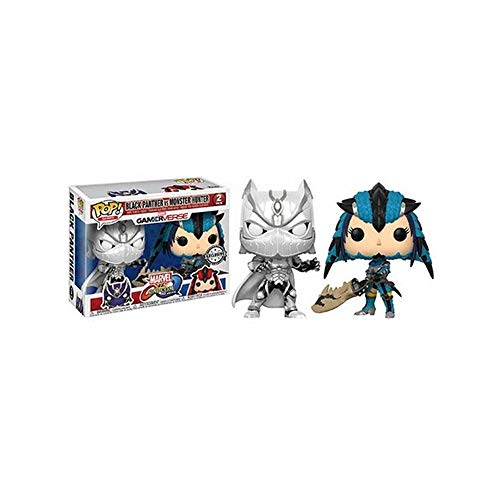 Funko 22788 Pop! Juegos de Vinilo Marvel VS Capcom Black Panther VS Monster Hunter Exclu