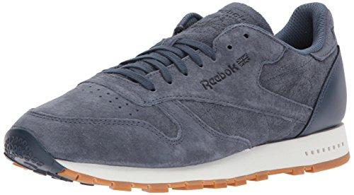 Reebok Men's CL Leather SG Sneaker, Smoky Indigo/Chalk-Gum, 11.5 M US - Reebok Suede