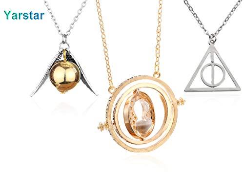 Silverlightl LLC Harry Potter Inspired 3 Piece Necklace Set (Harry Potter Diy-kostüme)