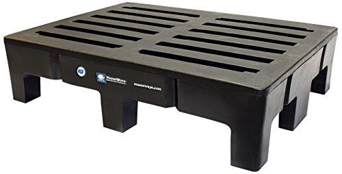 Masonways 481812HD Poly-Might Dunnage/Storage Racks, 1500 lb. Load Capacity, 48'' Width x 18'' Depth x 12'' Height, Black by Masonways