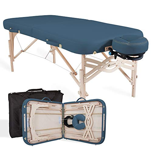 EARTHLITE Premium Portable Massage Table Package Spirit - Spa-Level Comfort, Deluxe Cushioning incl. Flex-Rest Face Cradle & Strata Face Pillow, Carry Case (30/32
