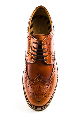 Stringate Marrone Scarpe Uomo London BL5 Marrone Base 021 TwCnRqUx6