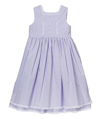 Strasburg Children Heirloom Dress Easter Little Girls Lace Embroidery Birthday Dress (10, Lavender) -