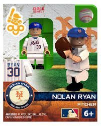 Oyo Sportstoys MLB New York Mets Nolan Ryan HOF Minifigure, Small, White
