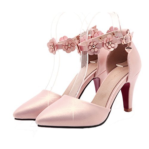 Sweet high pink heel color ankle pointed stilleto strap shoes with sweet high pink heel color ankle pointed stilleto strap shoes with candy ye pumps court toe mightylinksfo