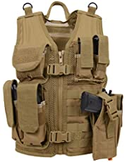 Rothco Kid's Tactical Cross Draw Vest, Coyote Brown