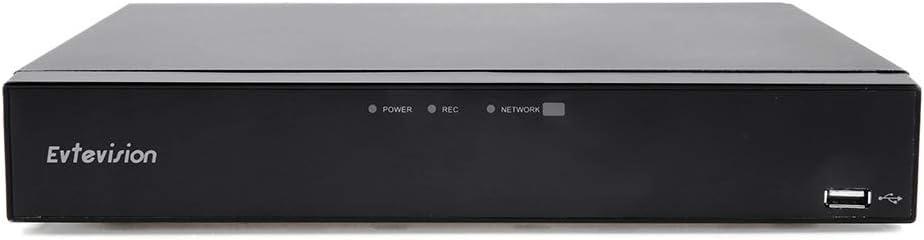 Evtevision 16 Canales HD 1080P Grabador de Video Digital H.264 AHD DVR/HVR/NVR,HDMI P2P, Onvif, Android/iOS App, Detección de Movimiento, Email Alarma,Cámara de Vigilancia CCTV