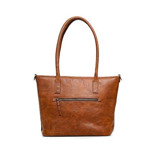 ONA The Capri II Camera & Laptop Tote Bag, Leather, Antique Cognac Brown