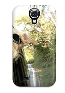 Protective Tpu Case With Fashion Design For Galaxy S4 (funny Dog Sitting In Car)