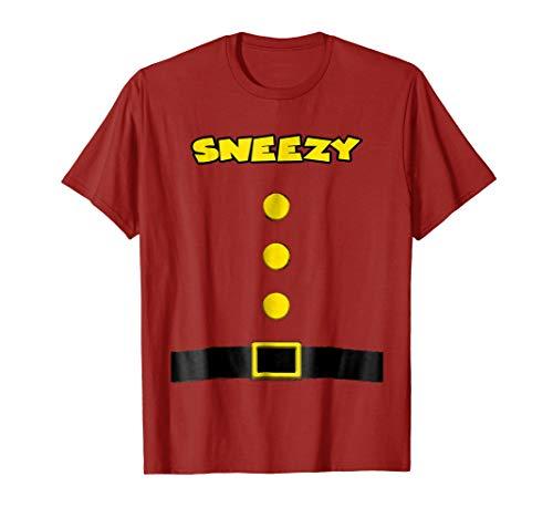 Sneezy Dwarf Halloween Costume Sneezy Dwarf T-shirt Sneezy]()