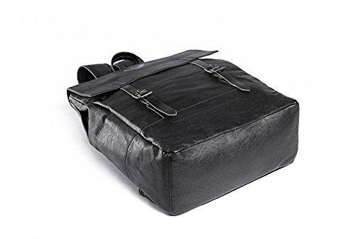 Herren Umh?ngetasche Leder Computer Rucksack Black 0hVaPq