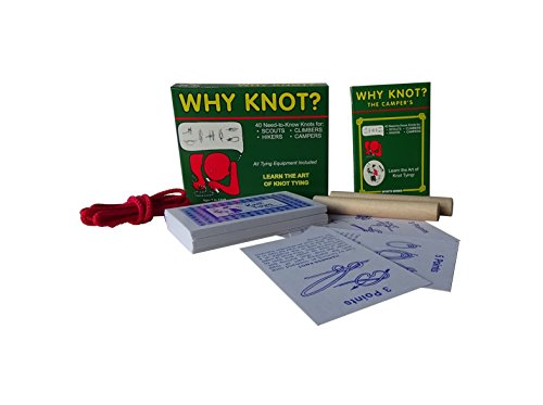 Compact Travel Edition Why Knot? Camper's Knot Tying Kit/Game