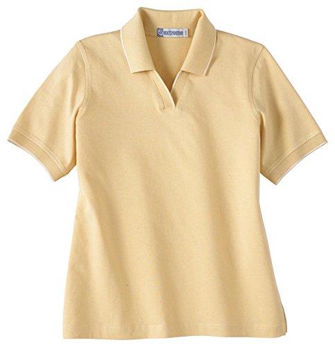 Extreme Ladies Johnny Collar Pencil Stripe Polo Shirt, CORNSILK 172, ()