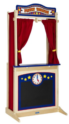GuideCraft Kids Indoor Playschool Kindergarden Furniture Décor Accessories Set Wooden Floor Theater by Guidecraft (Image #1)