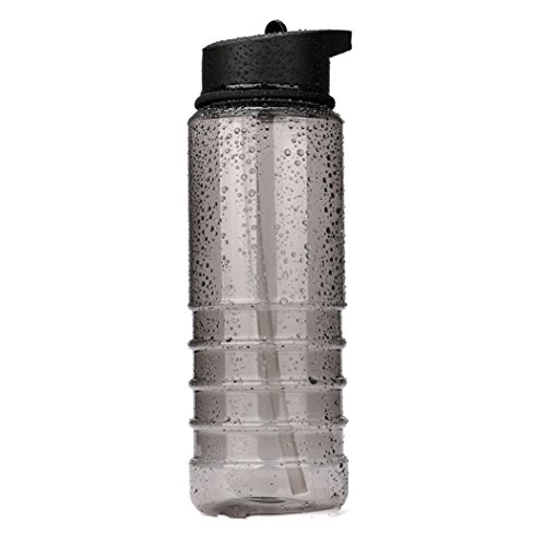 Oksale 800ml Sport Straw Water Bottle Cycling Hiking Bicycle Bike Water Cup (Black) (Bike Sipper)