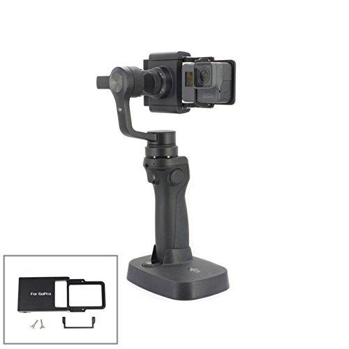 Drone ventiladores para GoPro Hero 43+ 3Sport accesorios de la cámara Adaptador Switch Mount Plate Osmo Funda para Handheld Gimbal