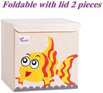 LBHHH Caja Juguetes almacenaje,Caja De Almacenamiento con Tapa, Caja De Almacenamiento De Juguete Plegable Cubierta (2 Piezas) Pequeño pez de Colores: Amazon.es: Hogar