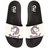 Rainbow Magical Unicorn Summer Slide Slippers For Girl Boy Kid Non-Slip Sandal Shoes size 2