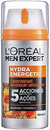 Crema hidratante de uso diario para hombre, Con extracto de Guaraná y Vitamina Cg para un darle un e