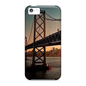 Case Cover Downtown Bay Bridge Sa/ Fashionable Case For Iphone 5c