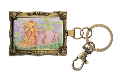 Pavilion Gift Company 12019 Paw Palettes Keychain, 2 by 2-3/4-Inch, Yorkshire Terrier Bonet