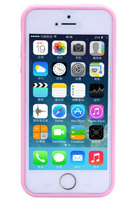 BCL13 Protective Case TPU + PC Clear Hard Back Cover for iPhone 5/5s-pink