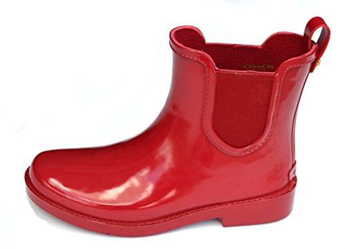 Coach Women's Tyler Rain Boot, True Red, 6M US ()