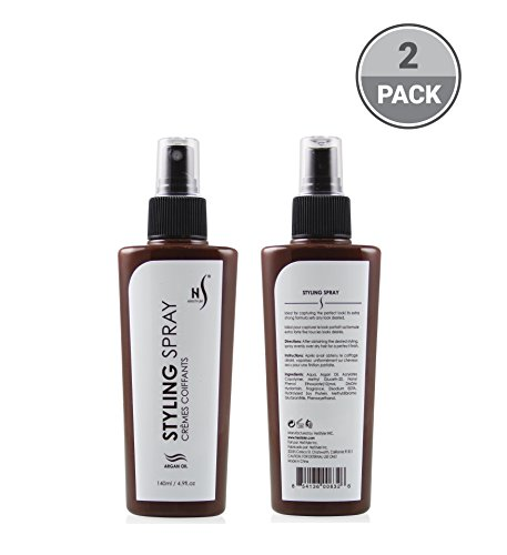 Herstyler Argan Oil Hair Spray   Hair Hold Spray For a Style that Still Lets Your Hair Smile, 4.9 Fl. Oz. (Pack of 2)