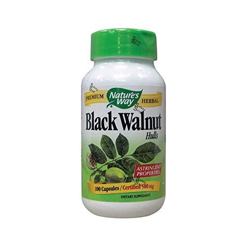 Nature's Way Black Walnut Hulls 500 mgper capsule, 100 Vegetarian Caps (Packaging May ()