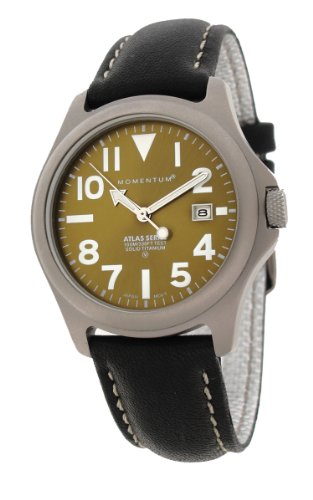Momentum Men's 1M-SP00G2B Atlas Classic Analog with Titanium dial Watch