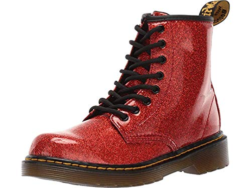 - Dr. Martens Kid's Collection Girl's 1460 Patent Glitter Junior Delaney Boot (Little Kid/Big Kid) Red Multi Coated Glitter 11 M UK