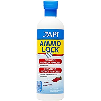 API AMMO-LOCK Freshwater and Saltwater Aquarium Ammonia Detoxifier 16-Ounce Bottle