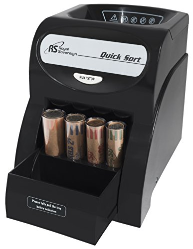 Royal Sovereign Electric Coin Sorter, Patented Anti-Jam Technology, 1 Row of Coin Counting (QS-1AC)