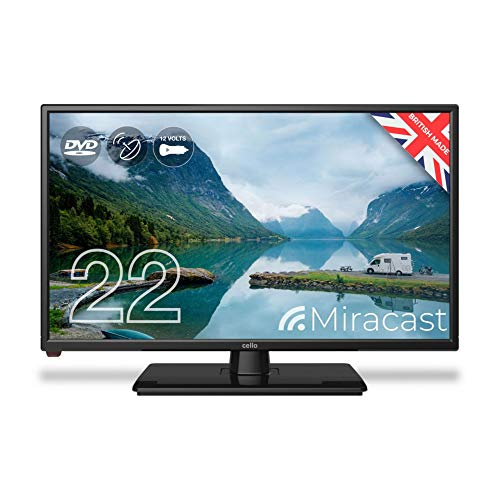 Cello ZRTMF0222 12 volt 22″ Traveller Caravan TV Freeview HD DVD & Miracast
