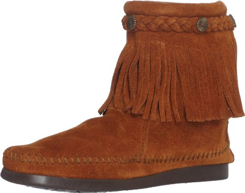 Stivale Brown Zip Minnetonka Hi Marrone da Back donna Braun Boot Top vx1Xt1wf